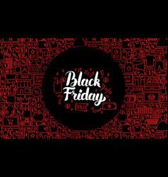 Black friday web banner vector