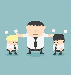 Business stop man quarreling vector