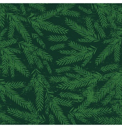 christmas background with green alder twigs vector image