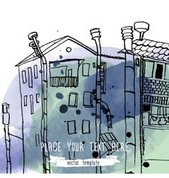 city line landscape vector image vector image