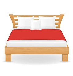 double bed 04 vector image