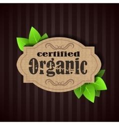 Eco friendly tag organic vector