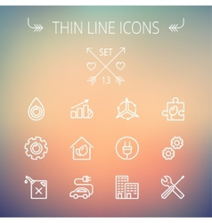 Ecology thin line icon vector image