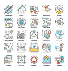 Flat Color Line Icons 8 vector image