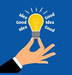 good business idea light bulb concept vector image vector image