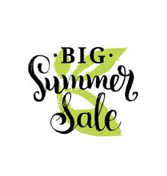 handwritten big summer sale on vector image vector image
