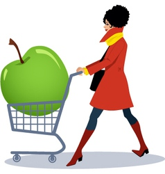 Healthy grocery shopping vector image vector image