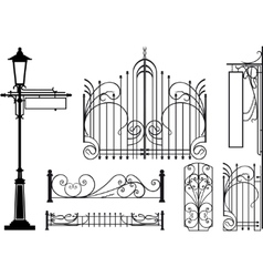 iron fretwork vector image