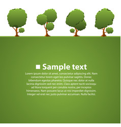 isolated green trees vector image vector image