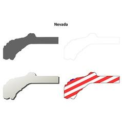 Nevada county california outline map set vector