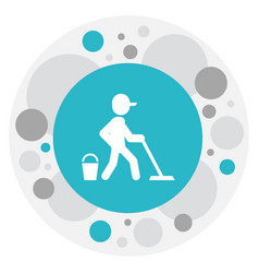 of hygiene symbol on mopping vector image