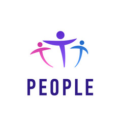 people logo template creative vector image vector image