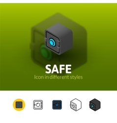 Safe icon in different style vector image vector image