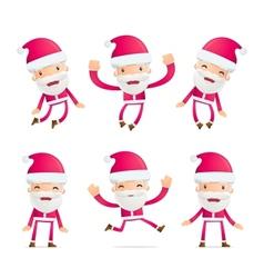 Santa in various poses vector image vector image