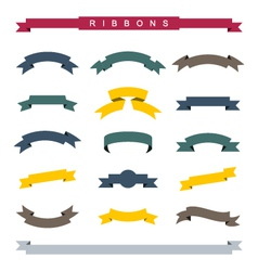 Simple ribbons vector image vector image
