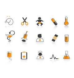 medical simple icon vector image