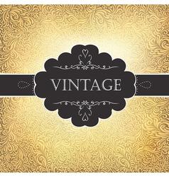 vintage golden card vector image