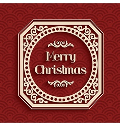 Merry Christmas calligraphic greeting card vector image