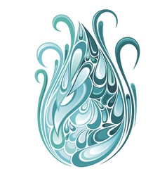 Single blue water drop vector