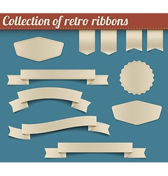 Collection of retro ribbons and tags vector
