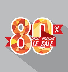 Discount 80 percent off vector