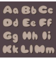 Abc bold cocoa vector
