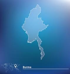 Map of burma vector