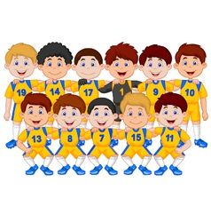 Football team cartoon vector