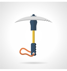 Colored ice axe flat icon vector