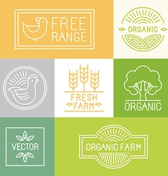 Fresh farm and free range labels vector