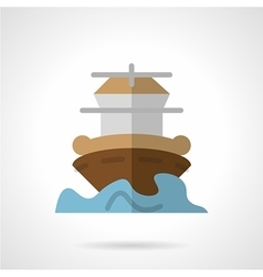 Marine vessel flat color icon vector