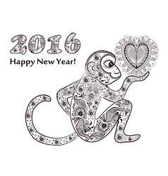 New years monkey vector