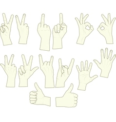 sketching of hand gestures vector image