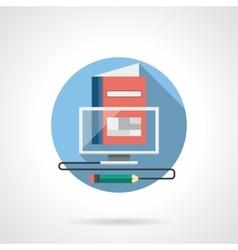 Virtual school color detailed icon vector