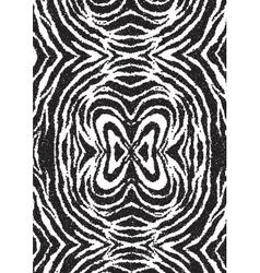 Halftone dots zebra texture Animal background vector image