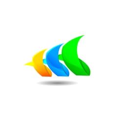 Abstract grass logo vector