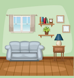 background living room home scene vector image vector image