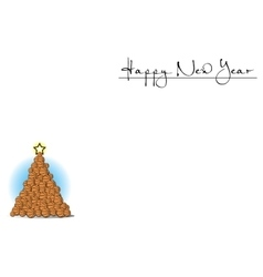 Background with christmas tree of basketball vector