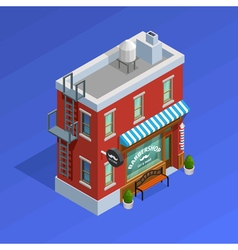 Barbershop building concept vector