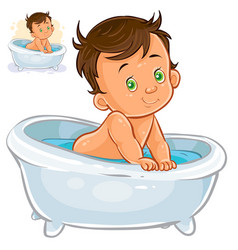Daby take a bath vector