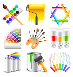 Design and art icons set vector image vector image