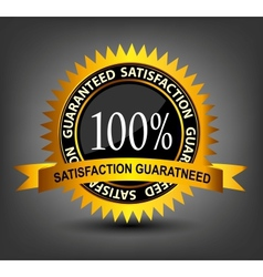 Fatisfaction guaranteed label vector image