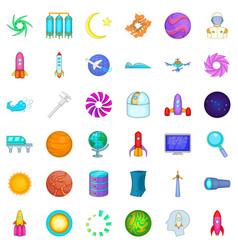Fingerprint icons set cartoon style vector