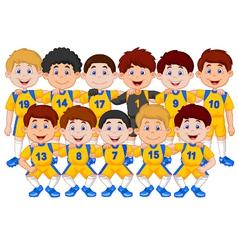 Football team cartoon vector image