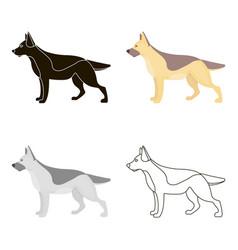 german shepherd icon in cartoon style for vector image