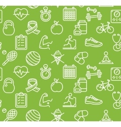 Health Life Fitness Background vector image vector image