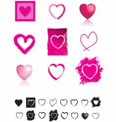 heart selection vector image