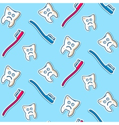 Ill teeth seamless pattern vector image