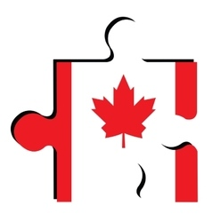 Isolated Canadian flag vector image