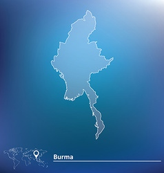 Map of burma vector